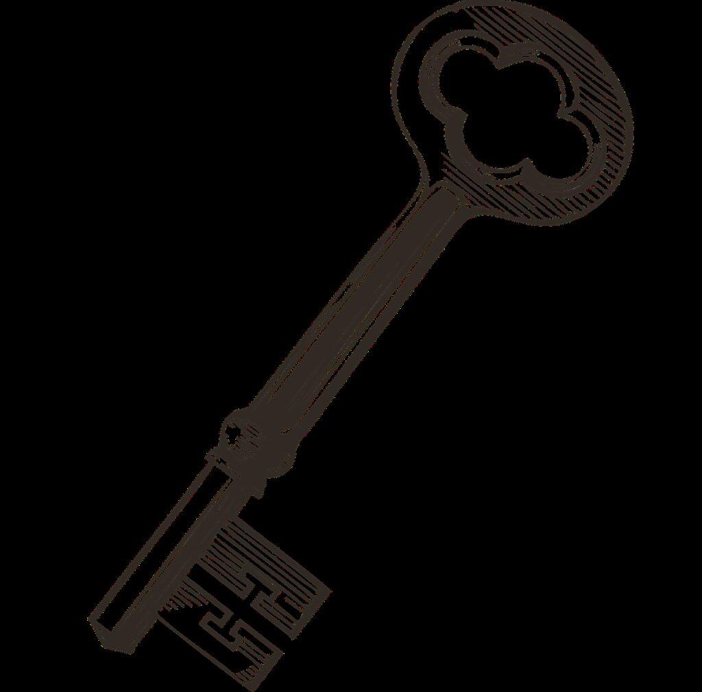 key, vintage key, lock